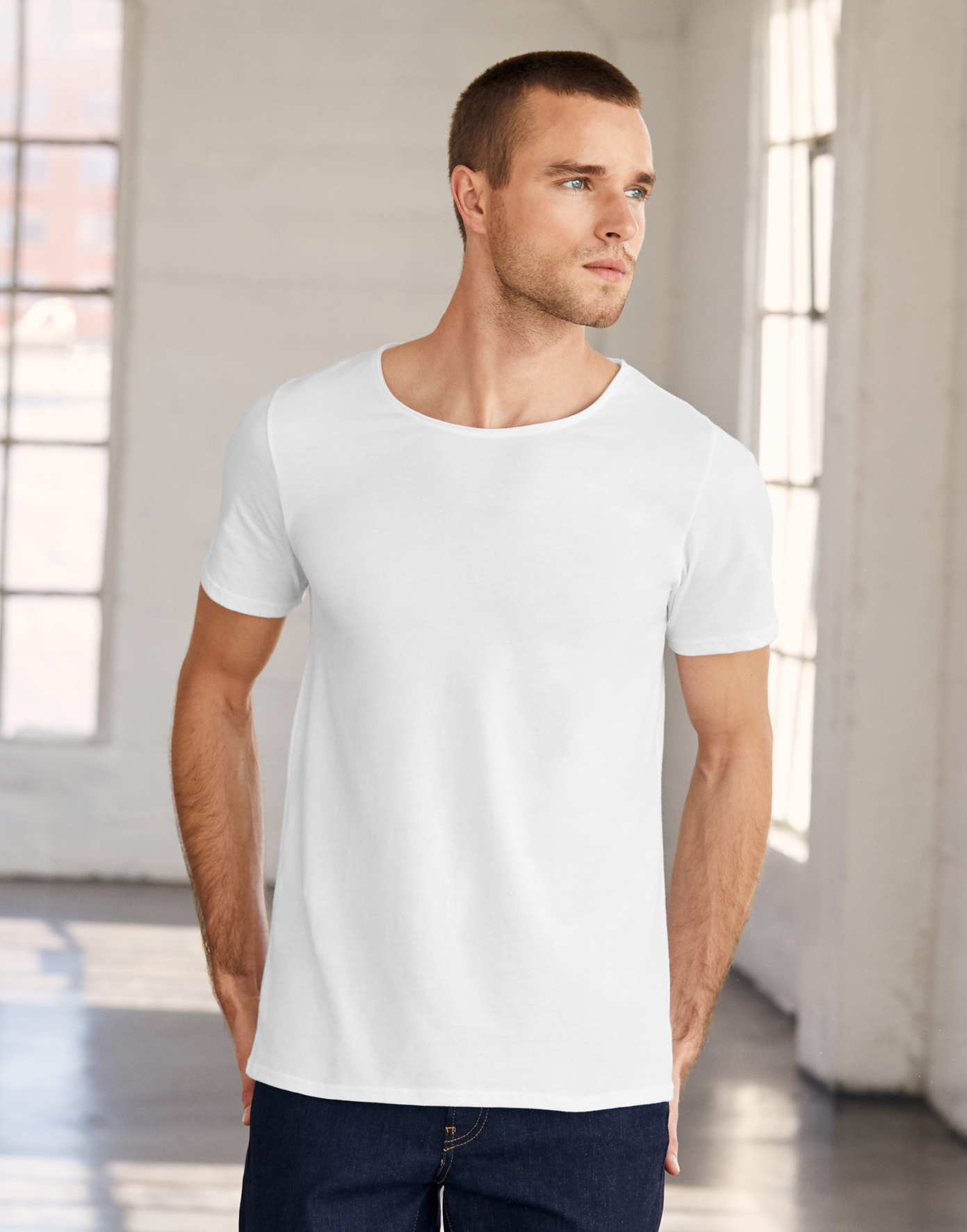 Bella+Canvas Men's Jersey Raw New Tee - Artikel 173.06 - 3014