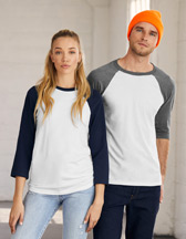 Bella+Canvas Triblend 3/4 Sleeve Baseball T-Shirt - 135 g/m² - Artikel 163.06 - 3200