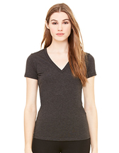 Bella+Canvas Women`s Triblend Deep V-Neck T-Shirt - 135 g/m² - Artikel 184.06 - 8435