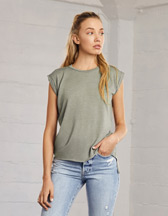 Bella+Canvas Women's Flowy Muscle Tee Rolled Cuff - 125 g/m² - Artikel 171.06 - 8804