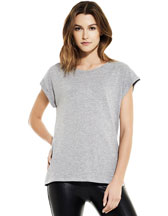N20 WOMEN´S ROLLED SLEEVE TUNIC T-SHIRT