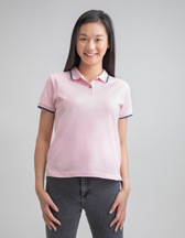 MANTIS Women's Organic Tipped Polo - Artikel M192