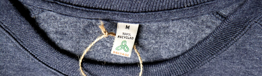 recycled t-shirts and apparel made from discarded water bottles and cotton